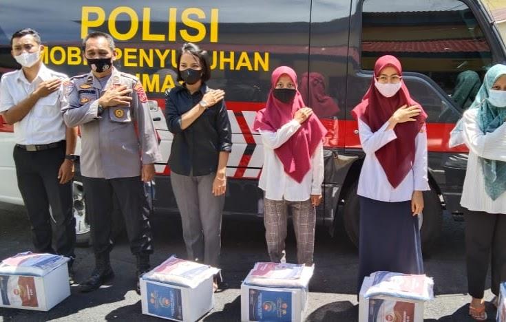 Polres Pessel Kembali Salurkan Bansos PPKM POLRI – TNI