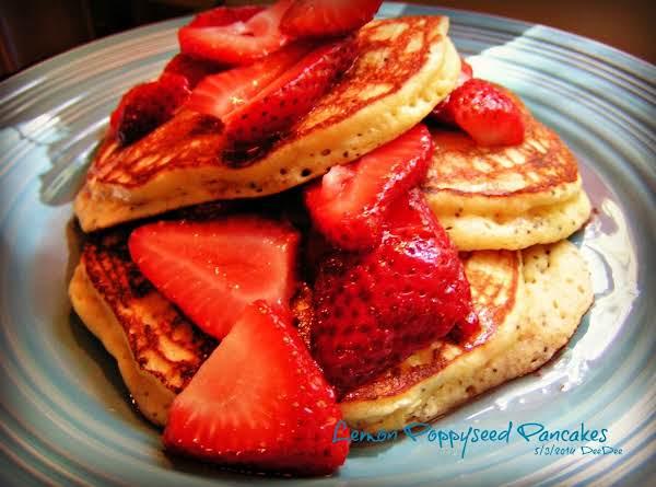 Lemon Poppy Seed Pancakes & Toppings