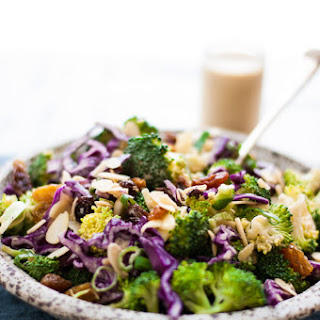 Broccoli Salad with Creamy Cashew Dressing.