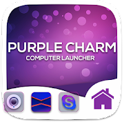 Purple Charm Theme For Computer Launcher