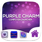 Purple Charm Theme For Computer Launcher