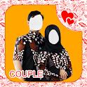 Beauty Hijab Couple Batik Modern icon