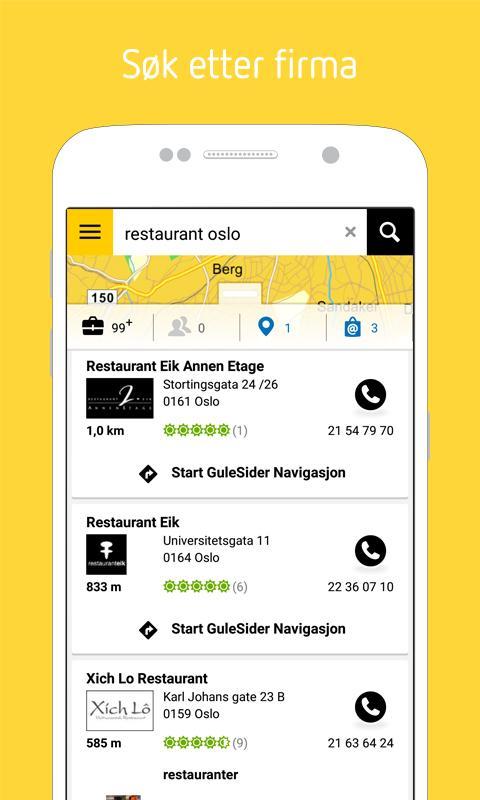 Gule Sider - Søk lokalt. - screenshot