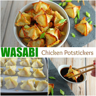 Wasabi Chicken Potstickers Recipe