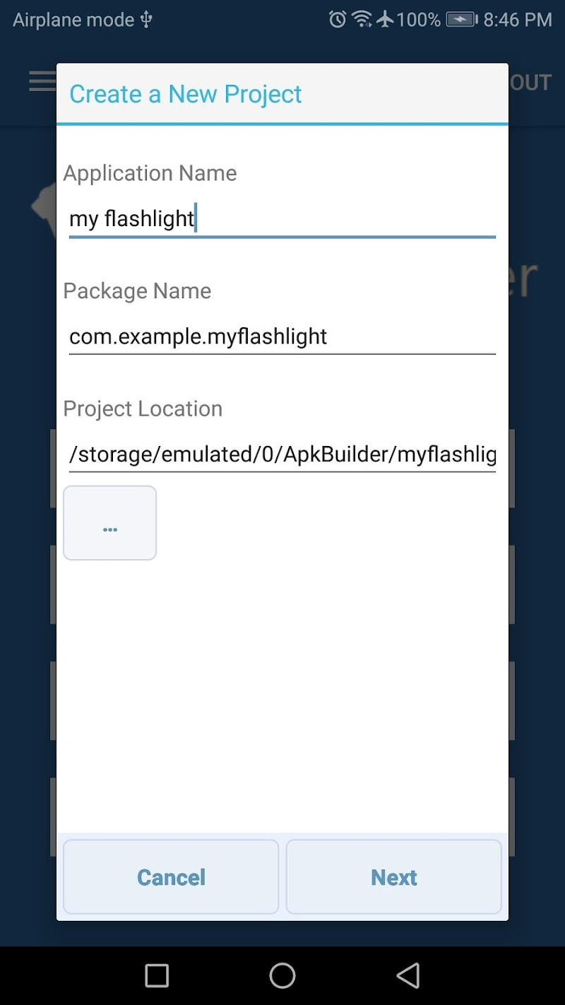 APK Builder Screenshot 1