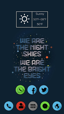 android Cool Words Theme Screenshot 1