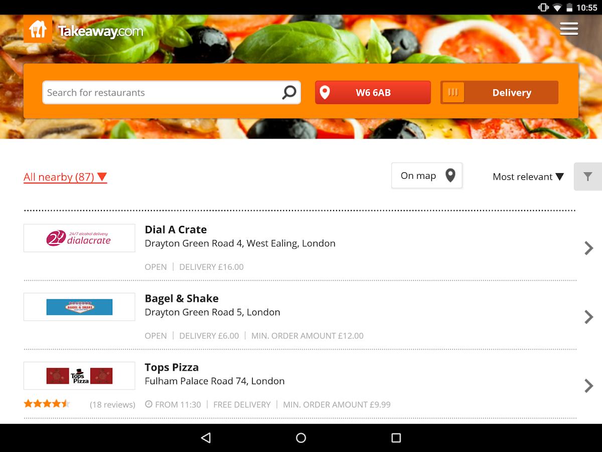 Takeaway.com - Order Food- screenshot