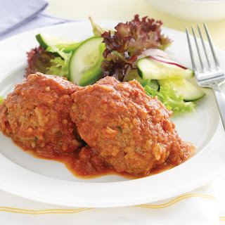 Rice Meatballs with Tomato Sauce