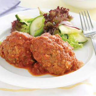 Rice Meatballs with Tomato Sauce.