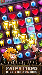 Zombie Puzzle – Match 3 RPG Puzzle Game MOD APK [1 HitKill] 1