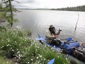 Photo: В это озеро немного сократили переход, опустив лодку в узкой части перешейка.