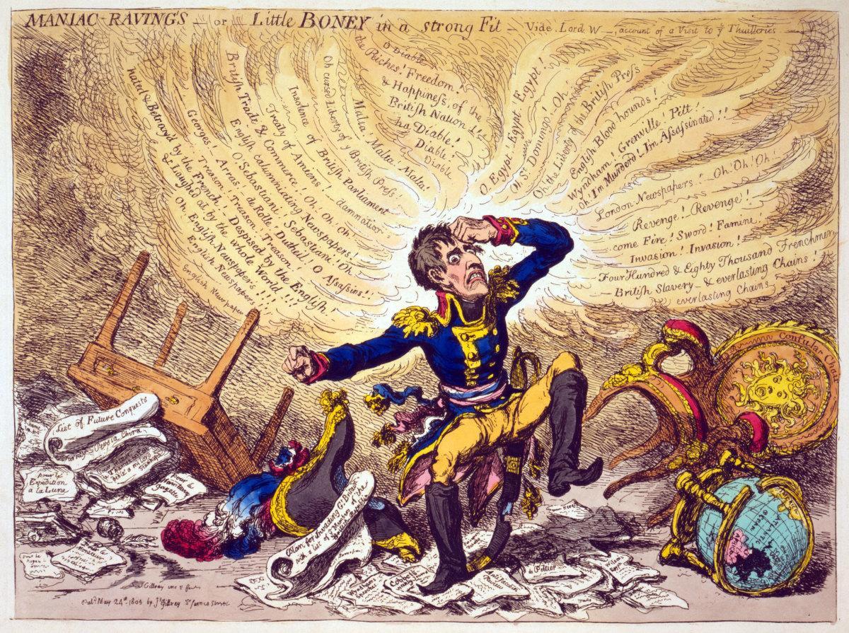 Napoleon cartoon by James Gillray