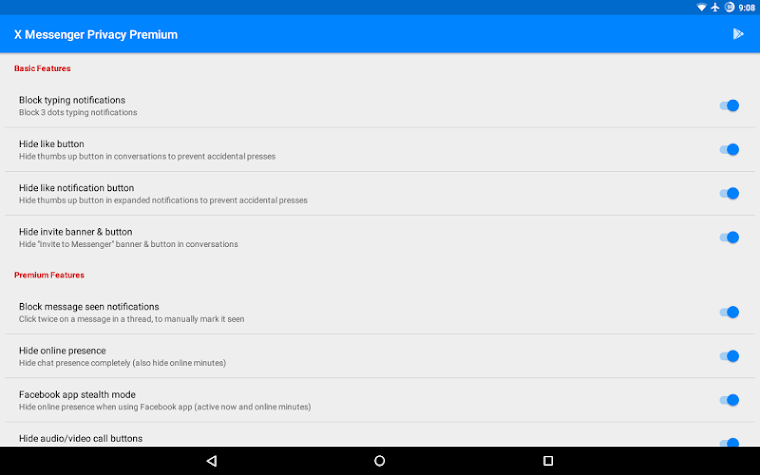 X Messenger Privacy Premium Screenshot