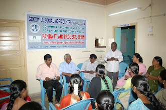 Photo: Mr.A.Pandian Barnabas,our Project staff addressing the gathering