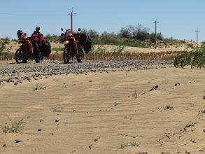 Photo: zrobiło się piaskowo i trzeba było się wycofać... opony nie te i kuleczka bez szans.