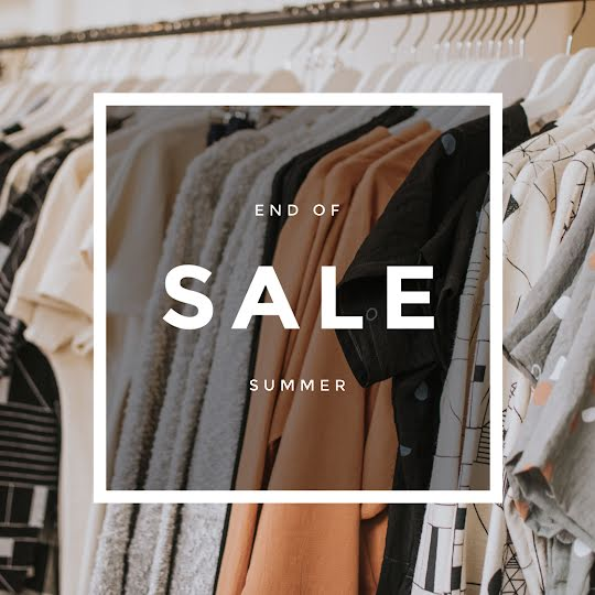 End of Summer Clothing Sale - Instagram Post Template