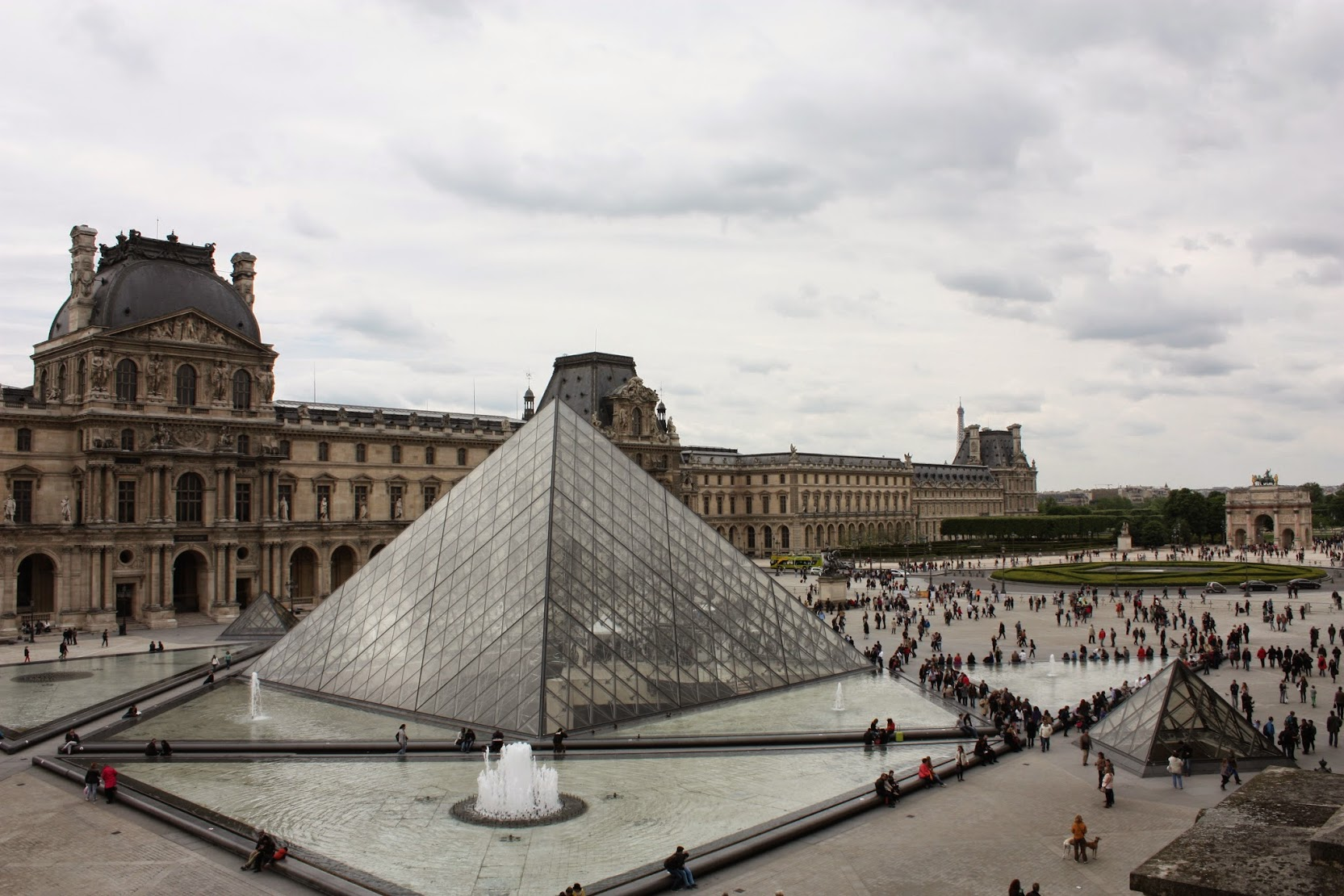 The museum area seen from inside the Louvre