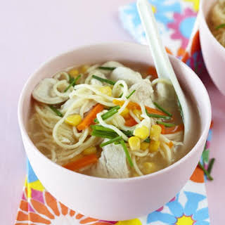 Chicken and Sweet Corn Noodle Soup.
