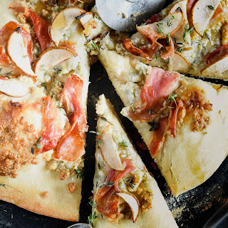 Grilled Pear, Prosciutto & Blue Cheese Pizza.