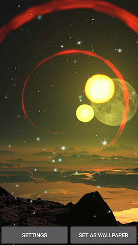 Planets Live Wallpaper Android App Screenshot