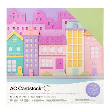 American Crafts Textured Cardstock Pack 12X12 60/Pkg - Pastels