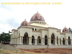 Photo: kubah enamel masjid al-muttaqin kintap kalsel