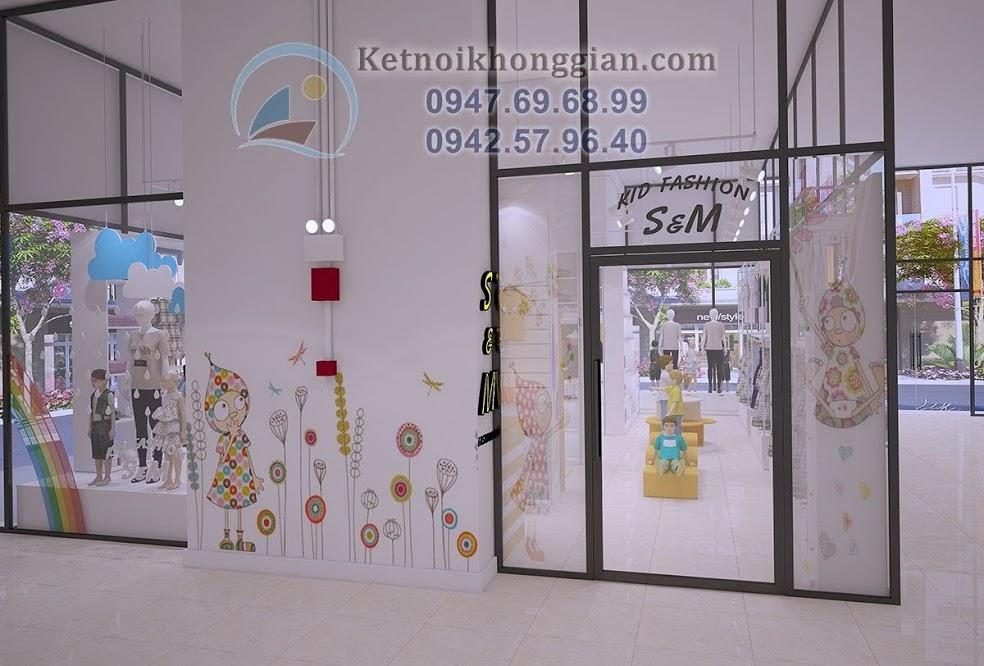 thiết kế shop thời trang trẻ trung