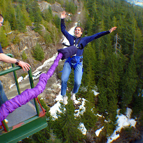 What am I doing here? by James Rudick - Sports & Fitness Other Sports ( bungee, terror, jump,  )