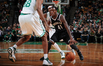Photo: BOSTON, MA - OCTOBER 16:  Tyshawn Taylor #41 of the Brooklyn Nets drives the ball against the Boston Celtics on October 16, 2012 at the TD Garden in Boston, Massachusetts. NOTE TO USER: User expressly acknowledges and agrees that, by downloading and or using this photograph, User is consenting to the terms and conditions of the Getty Images License Agreement. Mandatory Copyright Notice: Copyright 2012 NBAE  (Photo by Brian Babineau/NBAE via Getty Images)