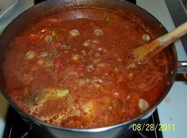 Quick Italian Beef & Vegetable Soup