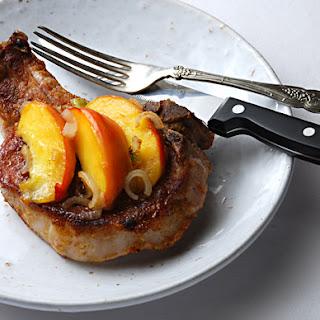 Pork Chops with Balsamic Peaches