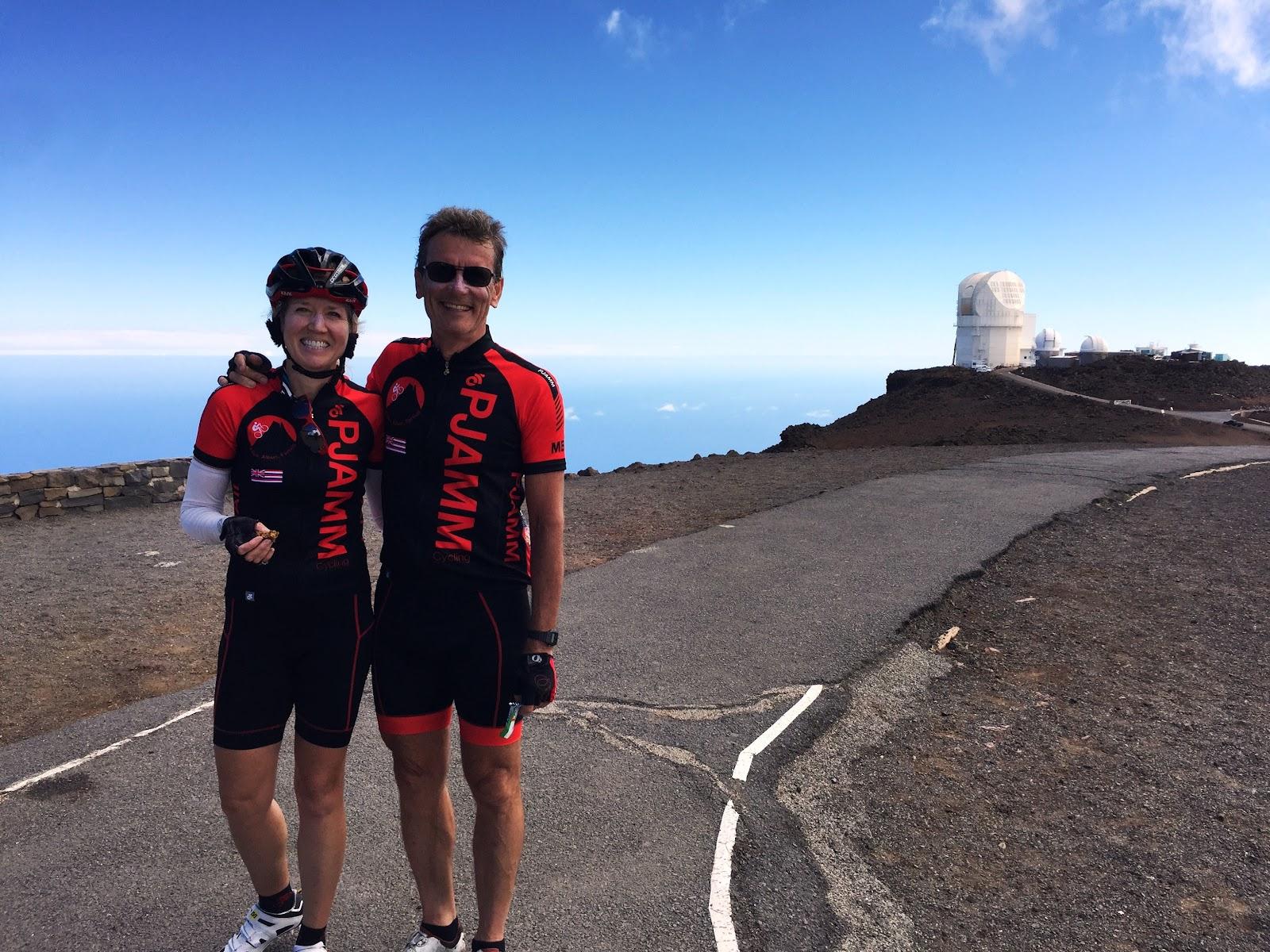Best bike climb in US - cyclists, observatories, sky, ocean, clouds
