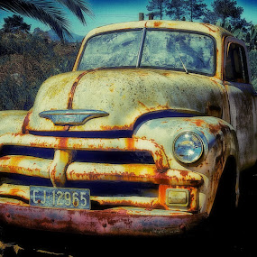 rust and cream by Randall Langenhoven - Transportation Automobiles ( old, vintage, rusted, chevy, classic, abandoned )