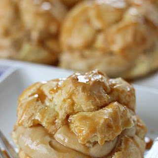 Salted Caramel Cream Puffs