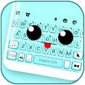 Cute Face Tongue Keyboard Background icon