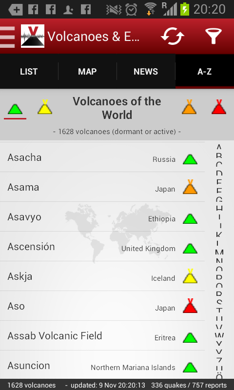 Volcanoes&Earthquakes UPGRADE- screenshot