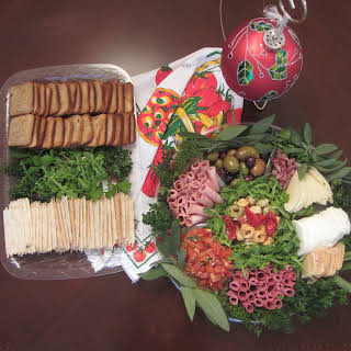 Italian Salumi And Antipasti Holiday Wreath.