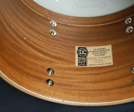 Photo: výrobní štítek s popisem konstrukce bubnu