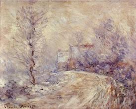 """Photo: Claude Monet, """"Entrata di Giverny sotto la neve"""" (1885)"""