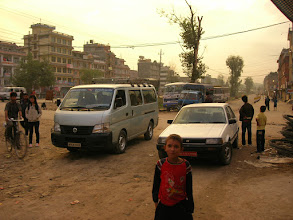 Photo: Bus station in Kathmandu