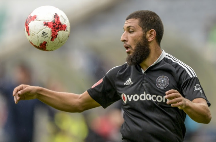Riyaad Norodien of Orlando Pirates during the Absa Premiership match between Orlando Pirates and Polokwane City at Orlando Stadium on February 25, 2017 in Johannesburg, South Africa.