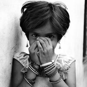 smile by Ravi Shankar - People Street & Candids ( prayer, girl, smile )