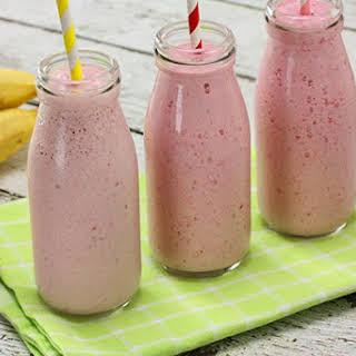 Raspberry & Banana Smoothie.