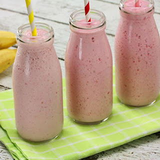 Raspberry & Banana Smoothie.