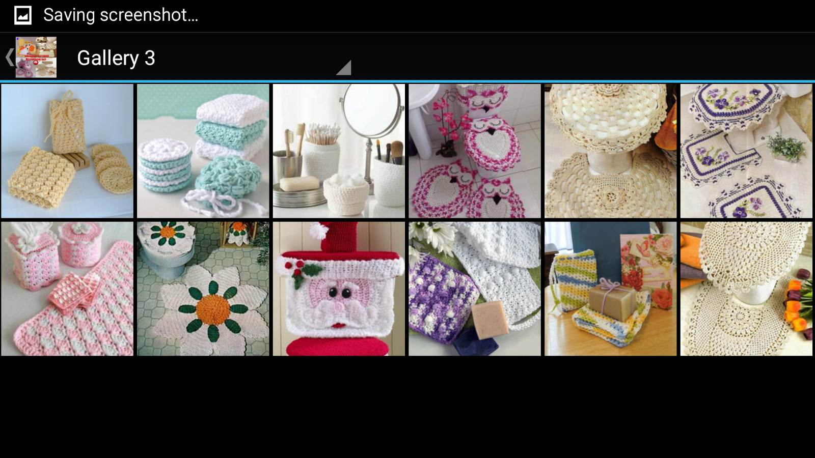 Crochet Bath Set Decorations- screenshot