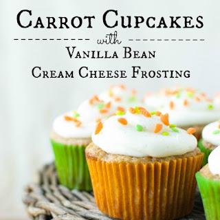 Carrot Cupcakes with Vanilla Bean Cream Cheese Buttercream