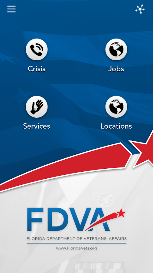 Florida Dept. Veterans Affairs- screenshot