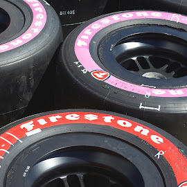 Spare Tires by Kirk Barnes - Transportation Automobiles ( racing, tires,  )