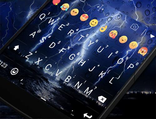 玩免費遊戲APP|下載Lighting Storm Emoji Keyboard app不用錢|硬是要APP