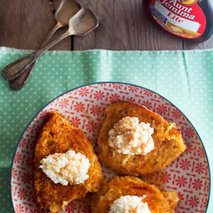 Pumpkin Bread French Toast with Cottage Cheese and Syrup